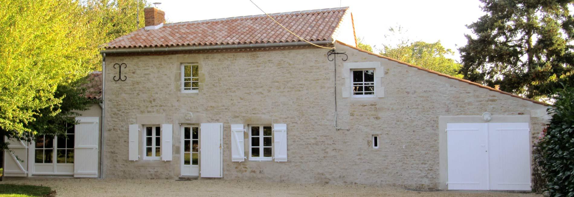 Restauration d'une maison ancienne en Vendée