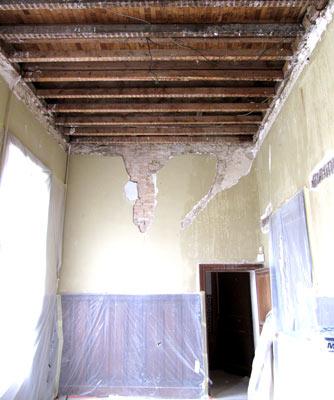 Relevé cotes travaux rénovation château